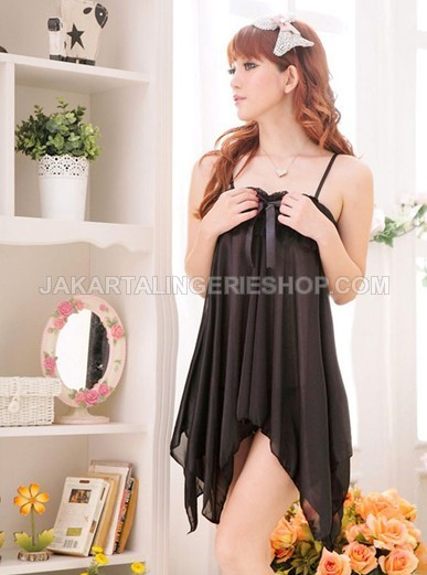 JL116B Semilongdress Black Sexy